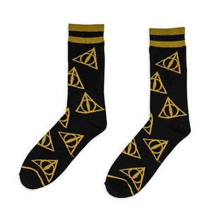 Other - Harry Potter Men Deathly Hallows Socks Size 10-13